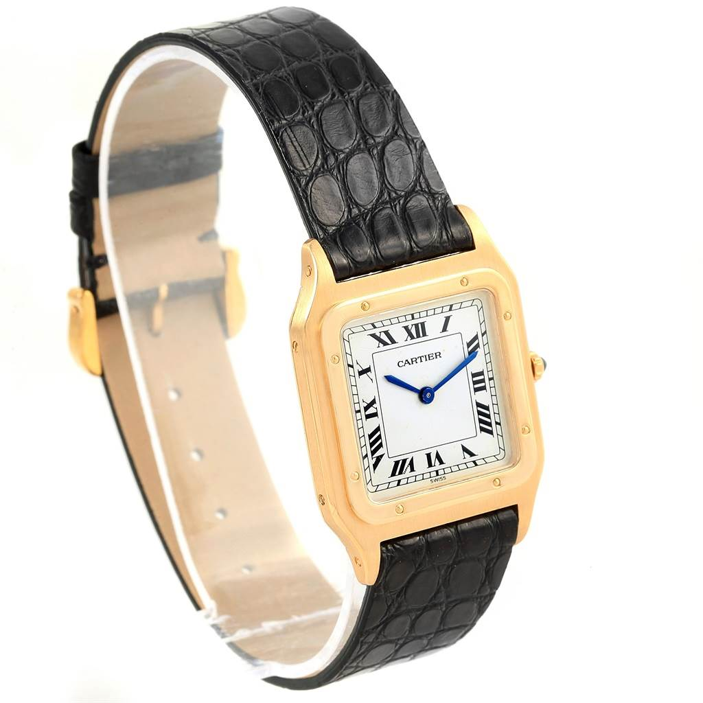 Cartier Santos Dumont Paris Yellow Gold Manual Watch 15751 SwissWatchExpo