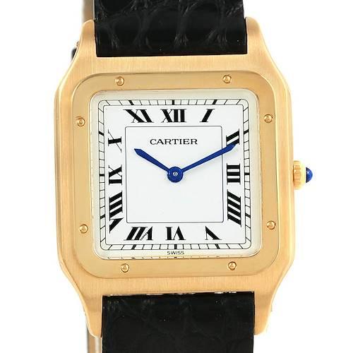 Photo of Cartier Santos Dumont Paris Yellow Gold Manual Watch 15751