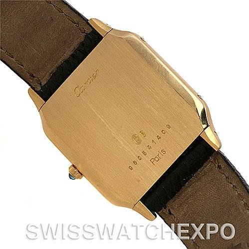 2491 Cartier Santos Dumont Privee Mecanique 18k Yellow Gold SwissWatchExpo