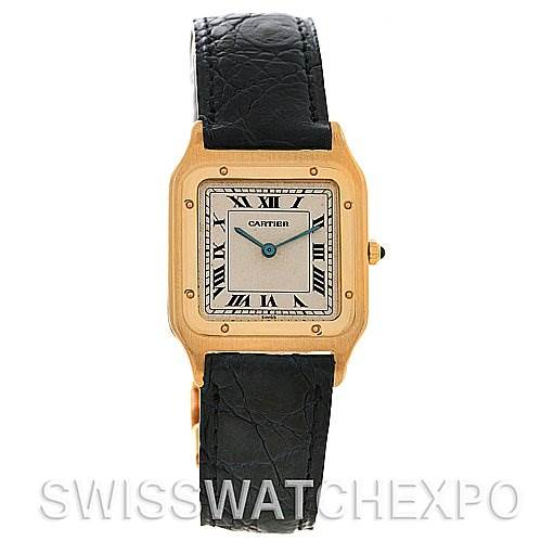 2511 Cartier Santos Dumont Privee CPCP Mecanique 18k Yellow Gold Watch SwissWatchExpo