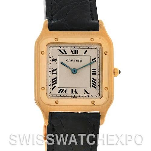 Photo of Cartier Santos Dumont Privee CPCP Mecanique 18k Yellow Gold Watch