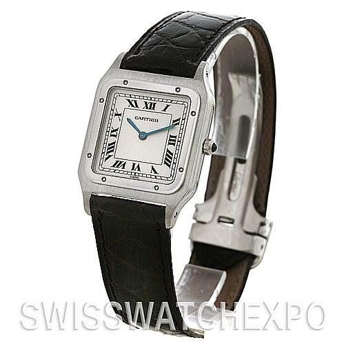 2561 Cartier Santos Dumont Platinum Mecanique Watch SwissWatchExpo