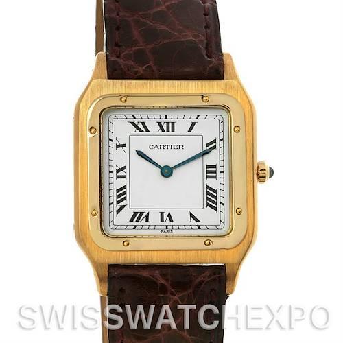 Photo of Cartier Santos Dumont Privee Paris Mecanique 18k Y Gold