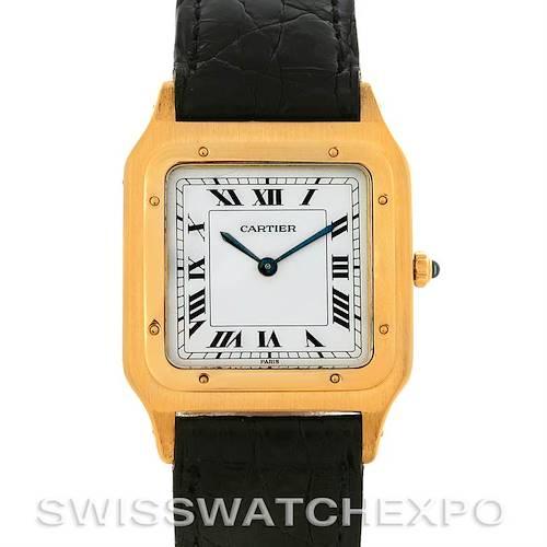 Photo of Cartier Santos Dumont Privee Paris Mecanique 18k Yellow Gold Watch