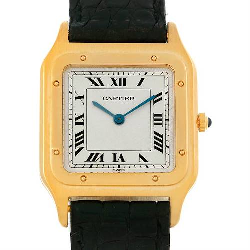 Photo of Cartier Santos Dumont Paris Mecanique 18k Yellow Gold Watch