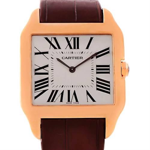 Photo of Cartier Santos Dumont Mens 18k Rose Gold Watch W2006951