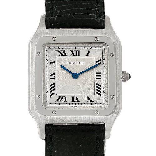 Photo of Cartier Santos Dumont Paris Platinum Mecanique Watch 15751