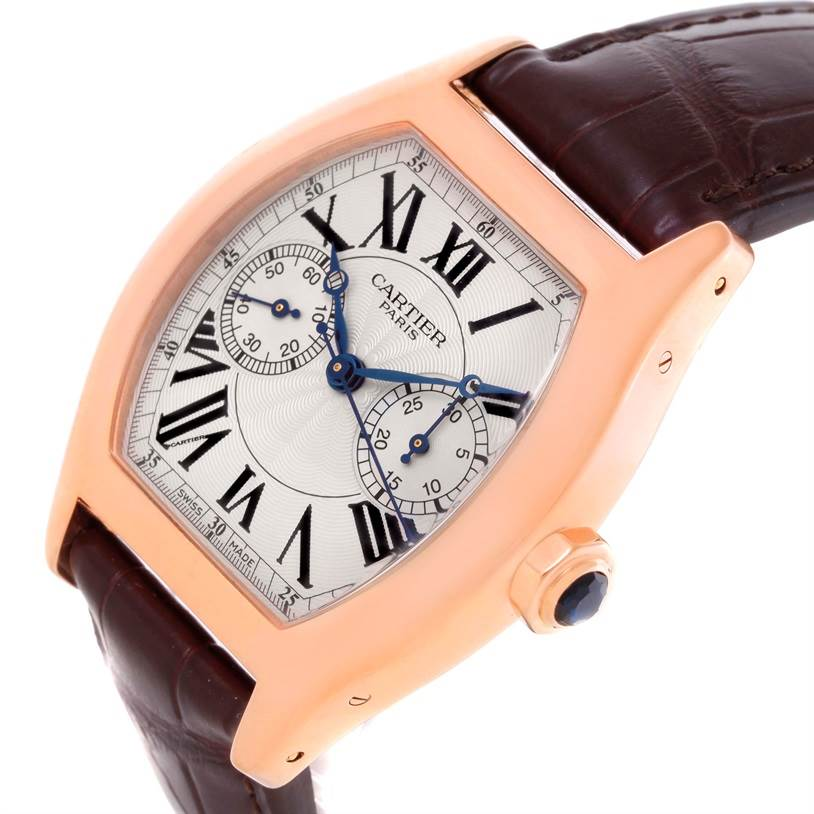 10689 Cartier Tortue Privee 18K Rose Gold Monopusher Chrono Watch W1543651 SwissWatchExpo