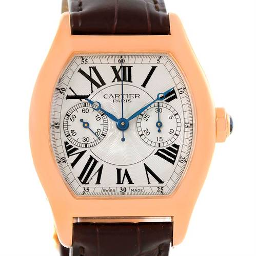 Photo of Cartier Tortue Privee 18K Rose Gold Monopusher Chrono Watch W1543651