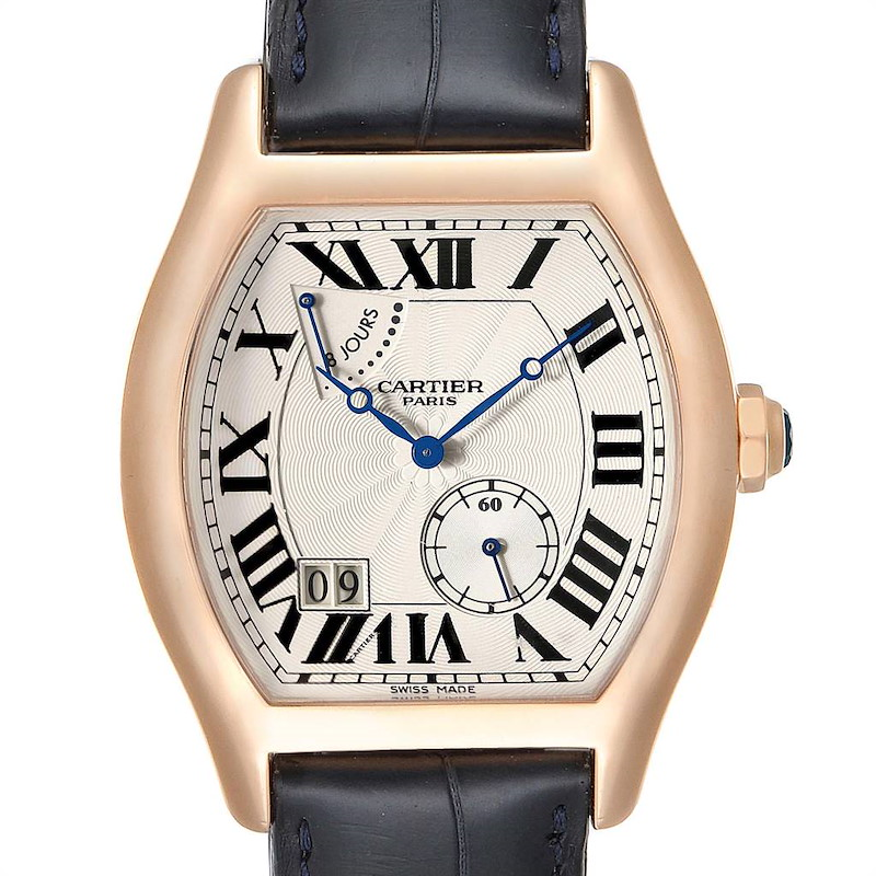 Cartier Tortue CPCP Privee Rose Gold 8 Day Power Reserve Mens Watch W1545851 SwissWatchExpo