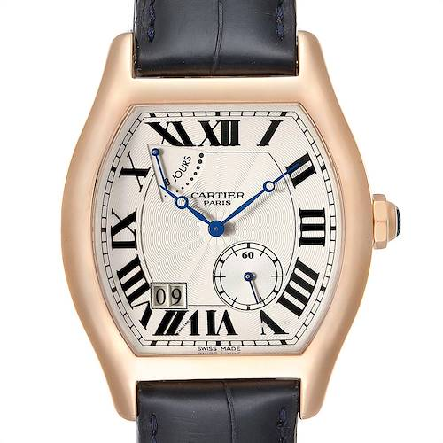 Photo of Cartier Tortue CPCP Privee Rose Gold 8 Day Power Reserve Mens Watch W1545851