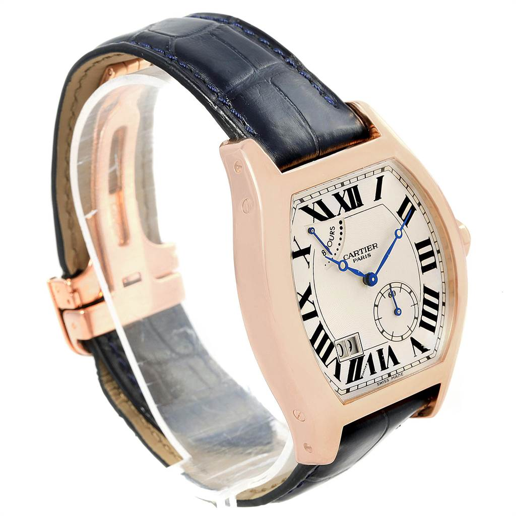 17358P Cartier Tortue Privee Rose Gold 8 Day Power Reserve Mens Watch W1545851 SwissWatchExpo