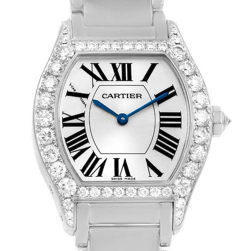 Photo of Cartier Tortue 18K White Gold Diamond Ladies Watch WA5072W9