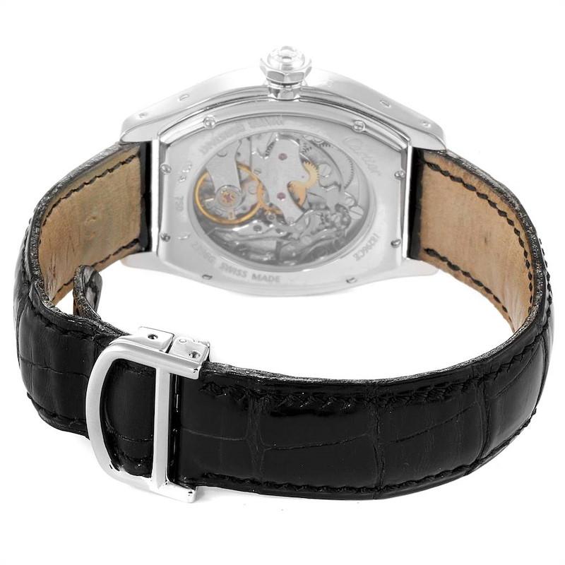 Cartier Tortue Monopusher Chronograph White Gold Diamond Watch 2396G SwissWatchExpo