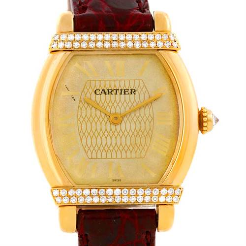 Photo of Cartier Tortue Chinoise Ladies 18k Yellow Gold Diamond Watch