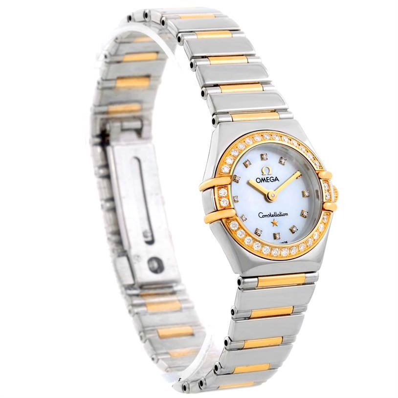 10065 Omega Constellation Mini Steel Yellow Gold Diamond Watch 1365.75.00 SwissWatchExpo