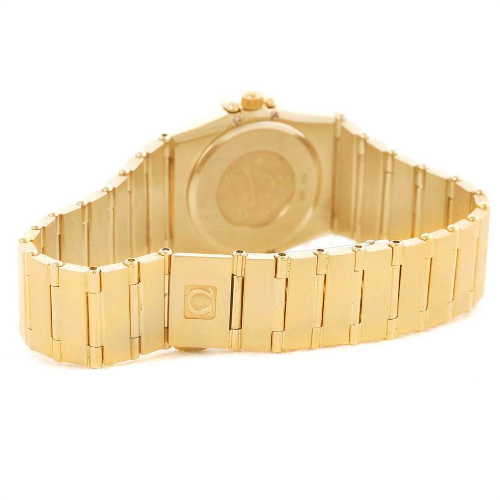 10729 Omega Constellation 18K Yellow Gold Diamond Ladies Watch 1164.75.00 SwissWatchExpo