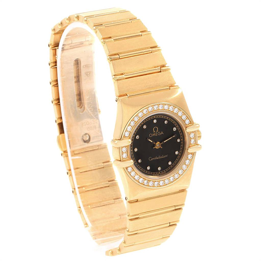 Omega Constellation 18K Yellow Gold Diamond Ladies Watch 1164.75.00 SwissWatchExpo