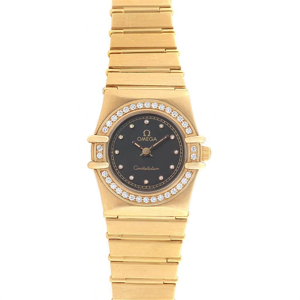Photo of Omega Constellation 18K Yellow Gold Diamond Ladies Watch 1164.75.00