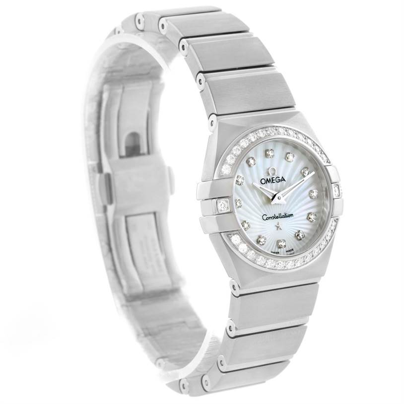 11824 Omega Constellation 27mm Diamond Ladies Watch 123.15.27.60.55.002 SwissWatchExpo