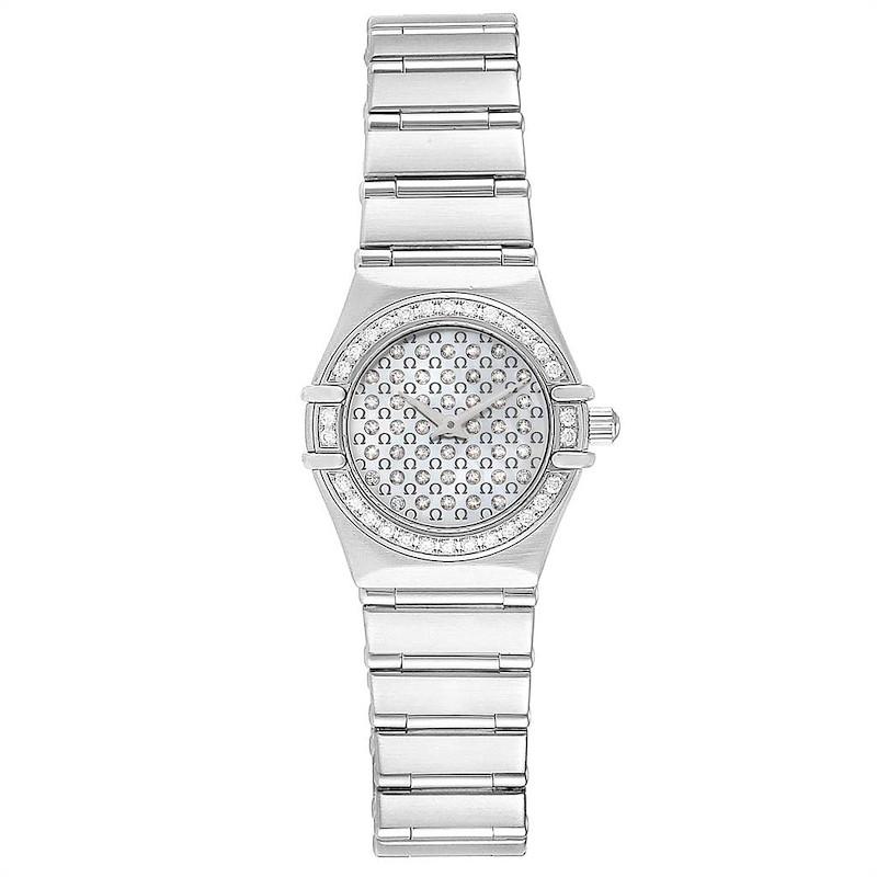 Omega Constellation My Choice Diamond Steel Watch 1455.77.00 Box Card SwissWatchExpo