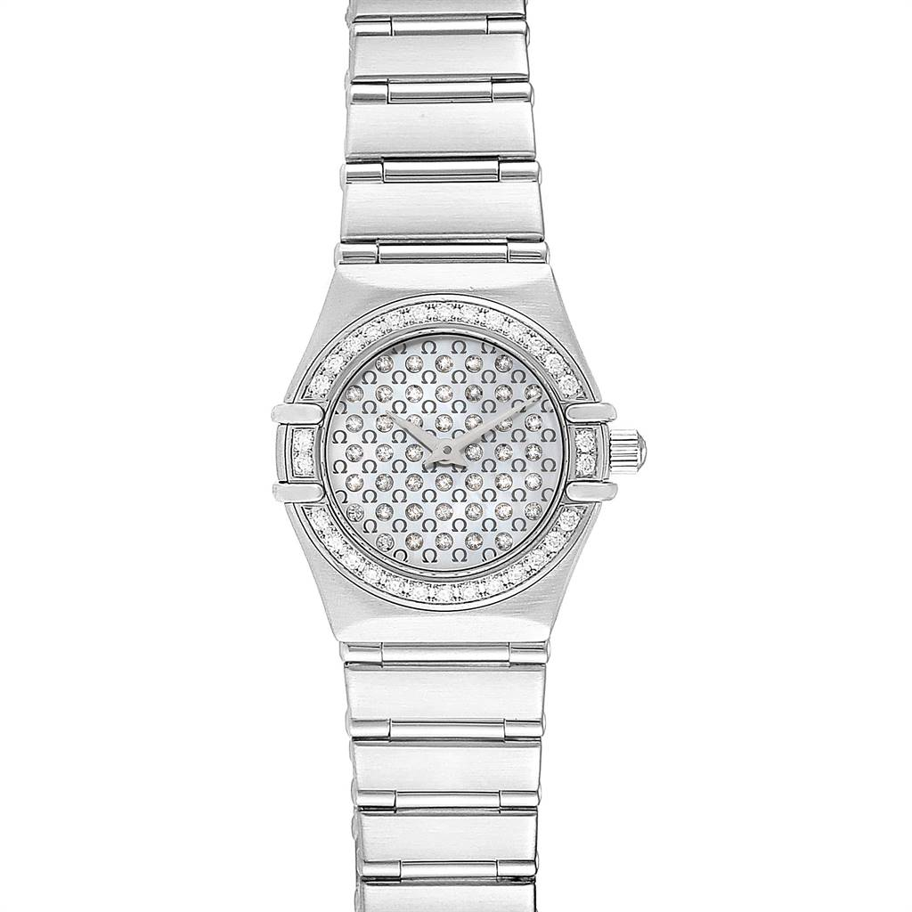 Photo of Omega Constellation My Choice Diamond Steel Watch 1455.77.00 Box Card