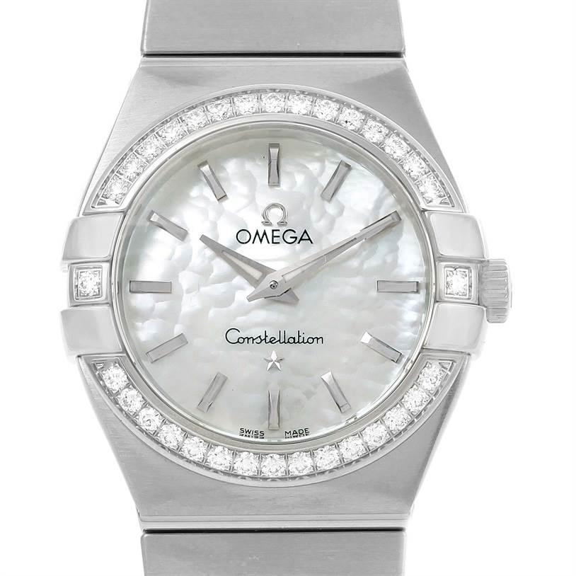 Omega Constellation 27mm Diamond Ladies Watch 123.15.27.60.05.001 SwissWatchExpo