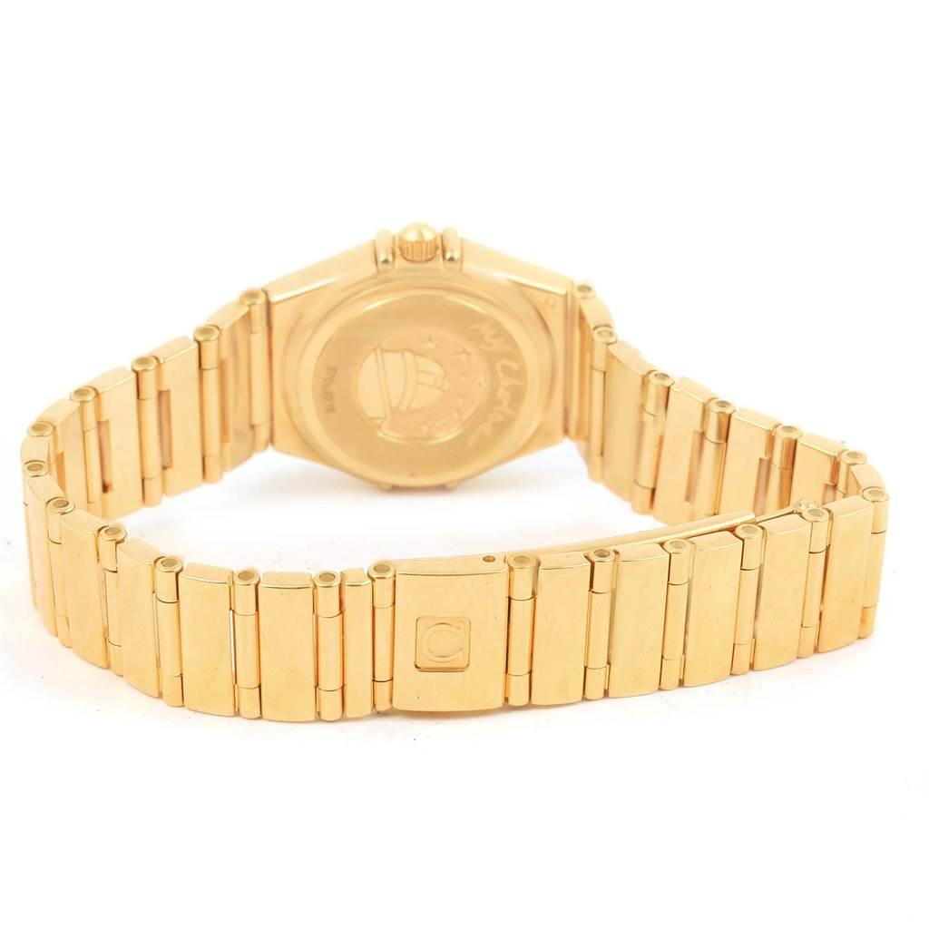 15542 Omega Constellation My Choice Yellow Gold MOP Diamond Ladies Watch 1164.75.00 SwissWatchExpo
