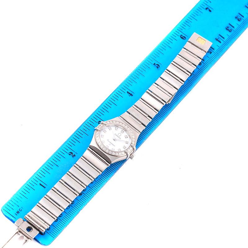 Omega Constellation 95 Mini Diamond Ladies Watch 1460.75.00 SwissWatchExpo