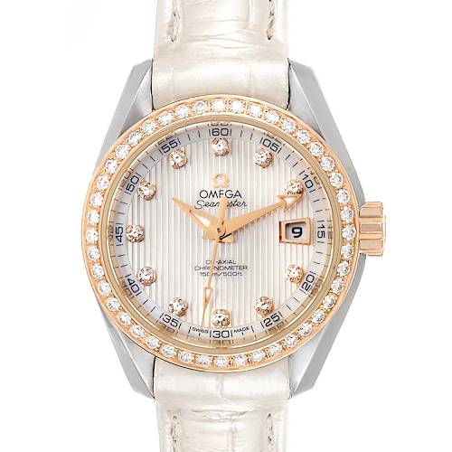 Photo of Omega Aqua Terra Steel Rose Gold Diamond Watch 231.28.30.20.55.001