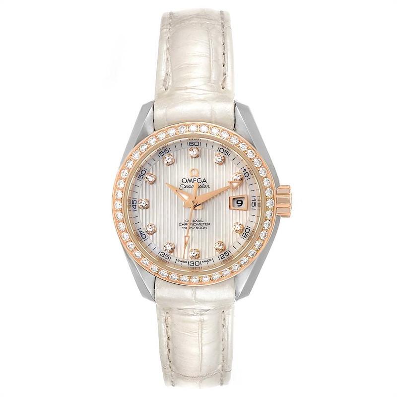 Omega Aqua Terra Steel Rose Gold Diamond Watch 231.28.30.20.55.001 SwissWatchExpo