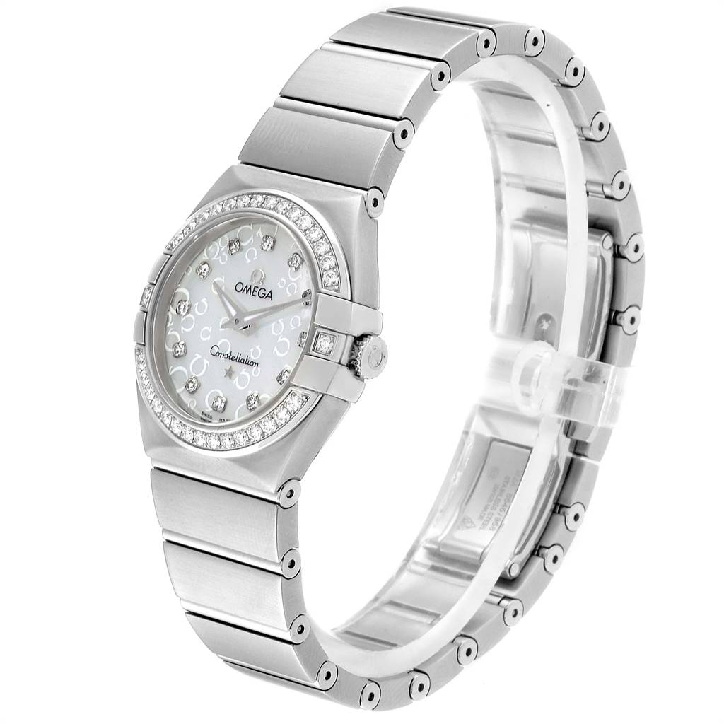 Omega Constellation MOP Diamonds Ladies Watch 123.15.27.60.55.005 Unworn SwissWatchExpo