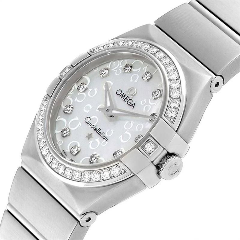Omega Constellation MOP Diamonds Ladies Watch 123.15.27.60.55.005 Unworn SwissWatchExpo
