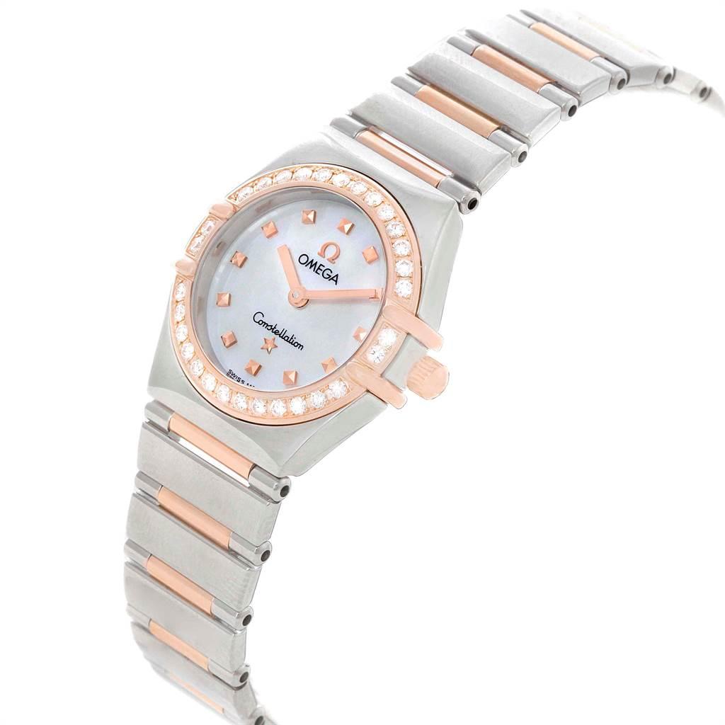 16432 Omega Constellation My Choice MOP Diamond Dial Ladies Watch 1368.71.00 SwissWatchExpo