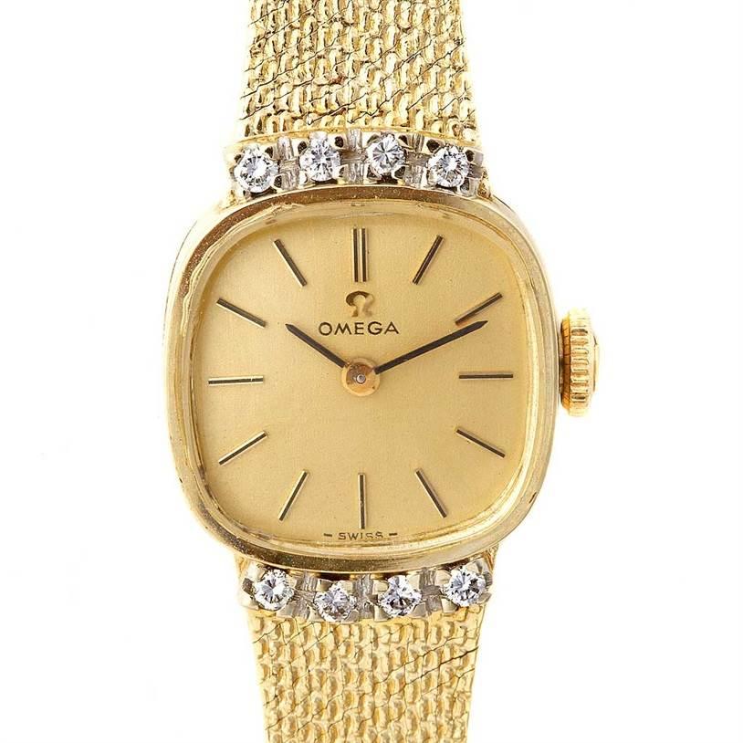 Omega-Vintage-Ladies-14k-Yellow-Gold-Diamond-Watch_luxury_watch