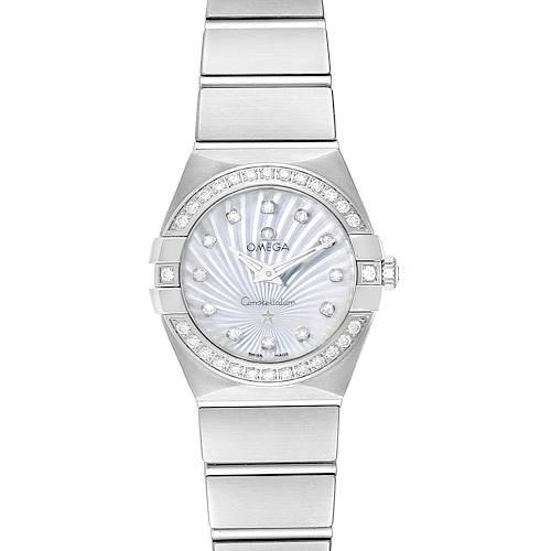 Photo of Omega Constellation 24 MOP Diamond Watch 123.15.24.60.55.004 Unworn