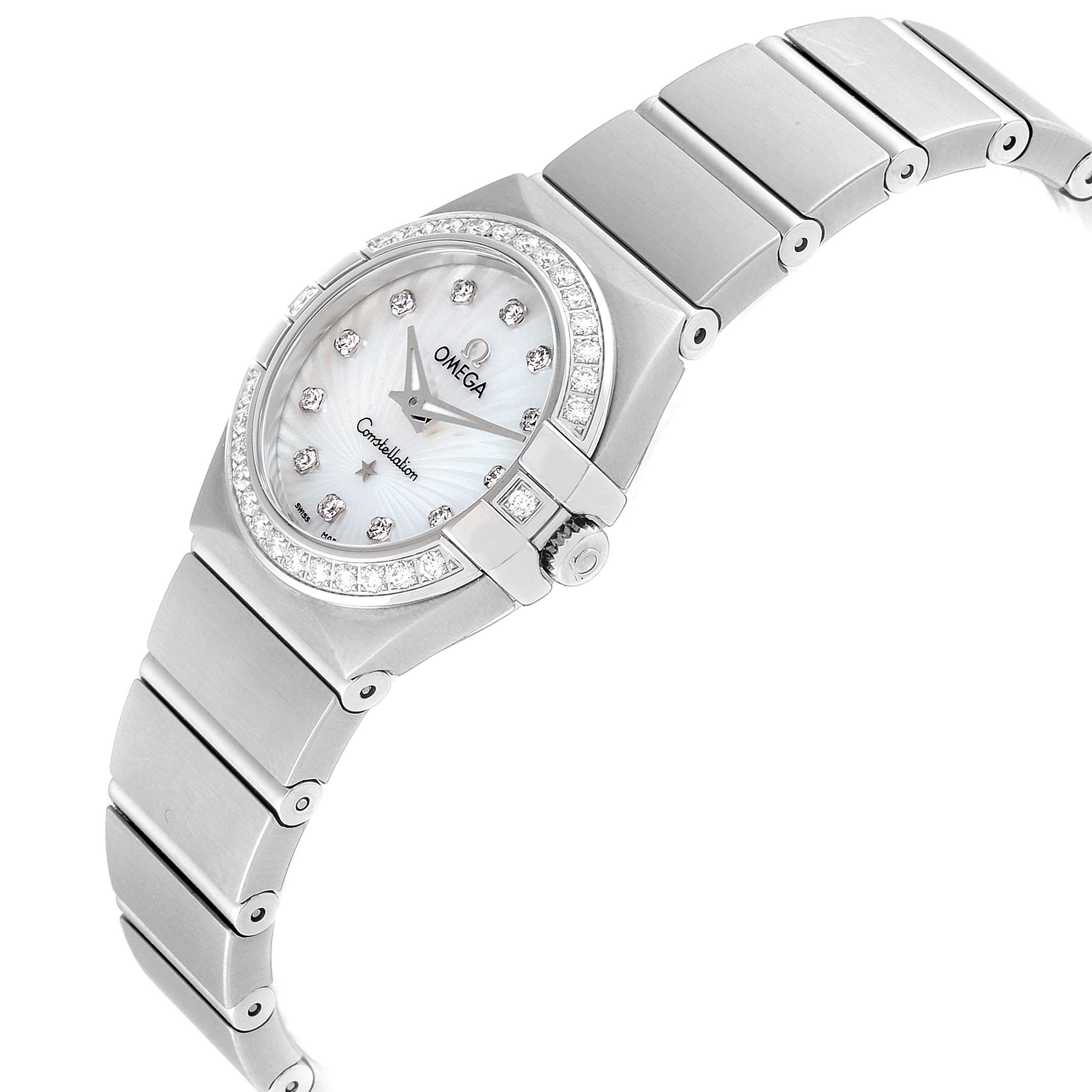 Omega Constellation 24 MOP Diamond Watch 123.15.24.60.55.004 Unworn SwissWatchExpo