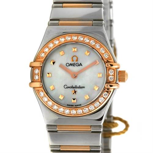 Photo of Omega Steel 18k Rose Gold Diamond My Choice Watch 13687100