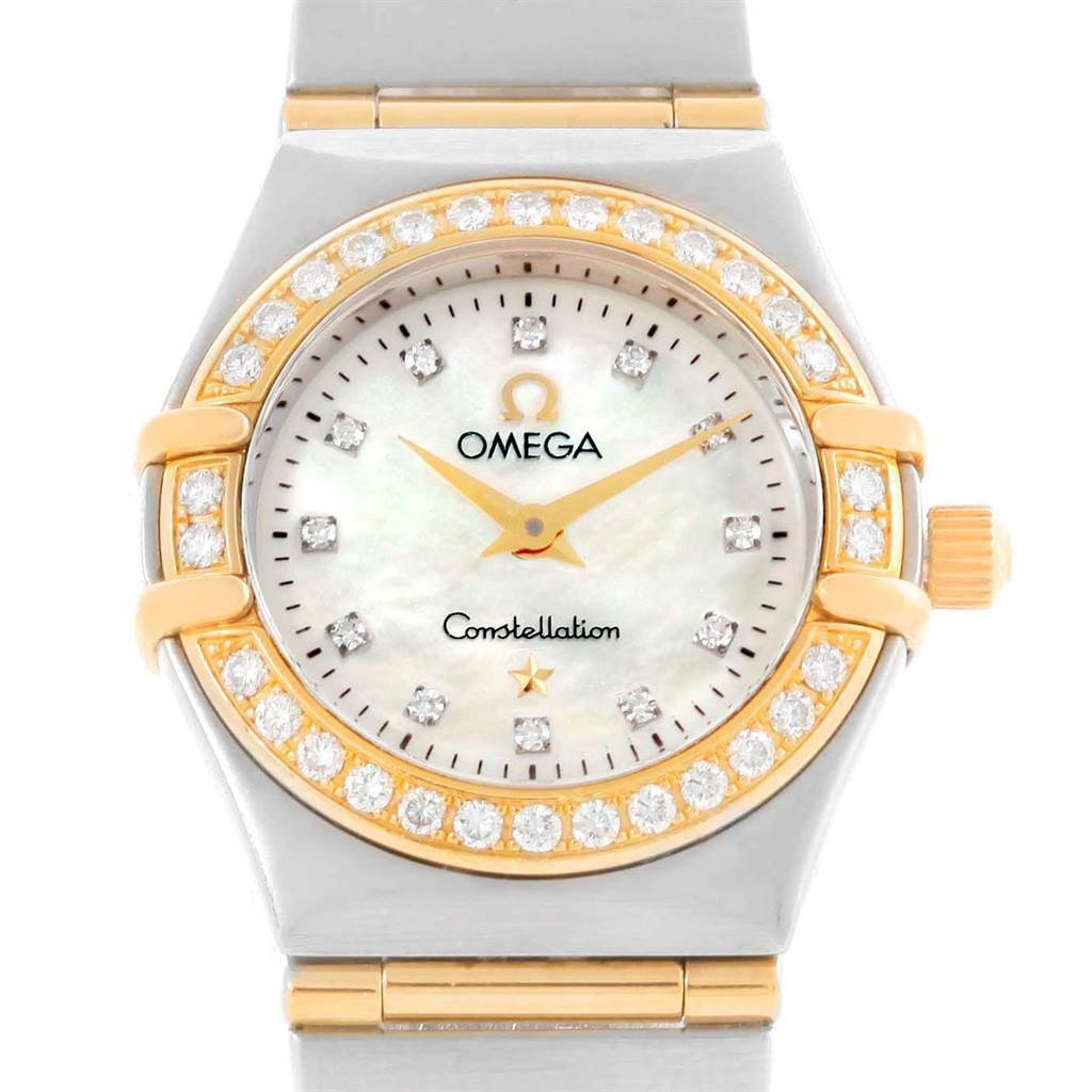 Photo of Omega Constellation Mini Mother of Pearl Diamond Watch 1267.75.00