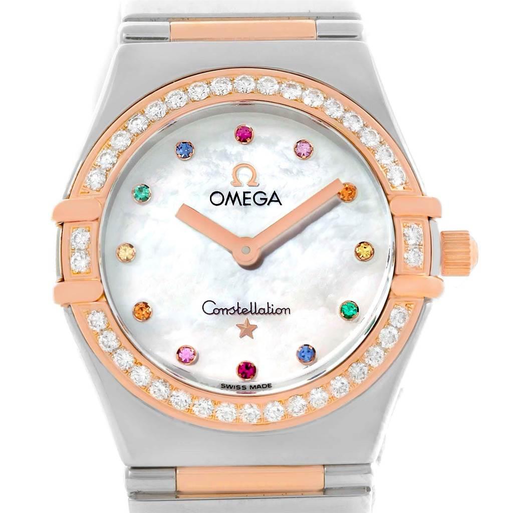 Photo of Omega Constellation Iris My Choice Steel Rose Gold Ladies Watch 1373.79
