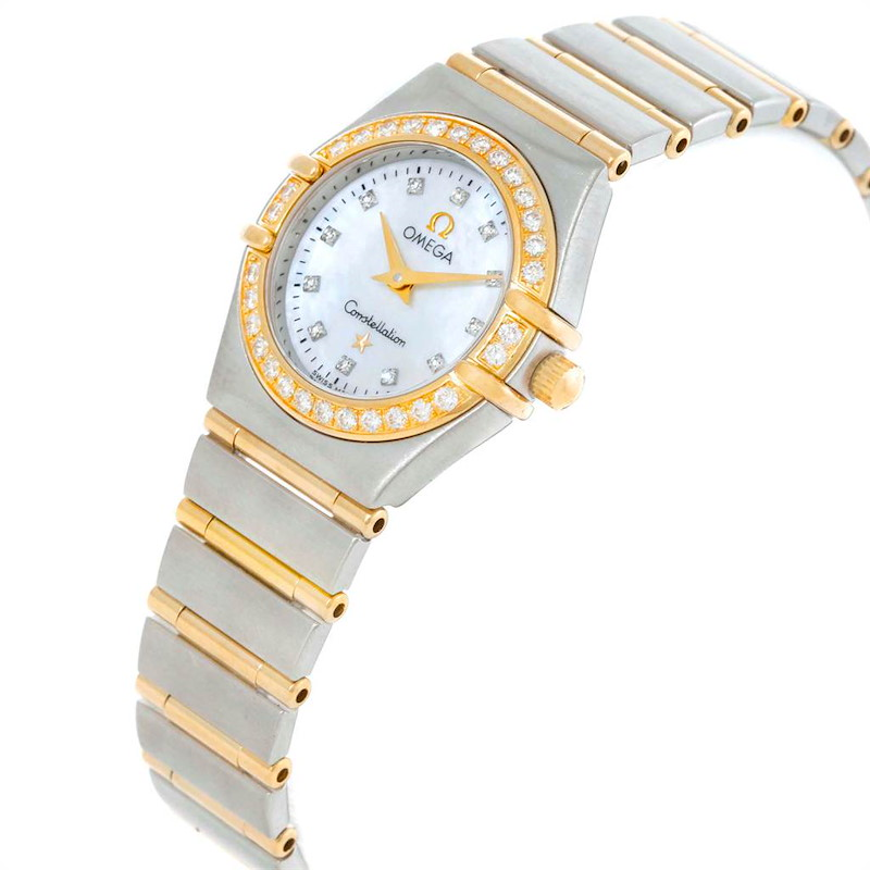Omega Constellation Mini Mother of Pearl Diamond Watch 1267.75.00 SwissWatchExpo