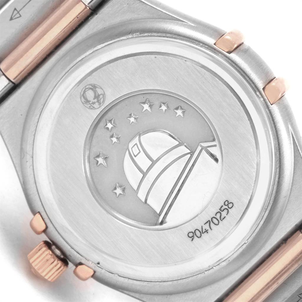 21720 Omega Constellation 95 MOP Diamond Steel Rose Gold Ladies Watch 1360.75.00 SwissWatchExpo