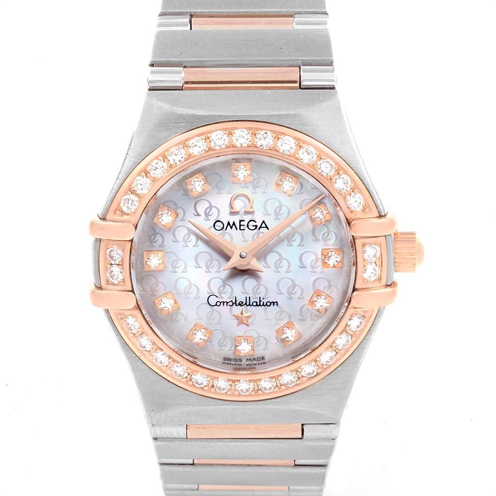 Photo of Omega Constellation 95 MOP Diamond Steel Rose Gold Ladies Watch 1360.75.00