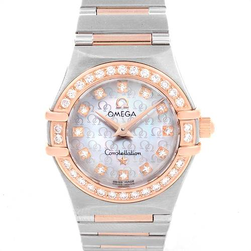 Photo of Omega Constellation 95 MOP Diamond Steel Rose Gold Ladies Watch 1360.75.00