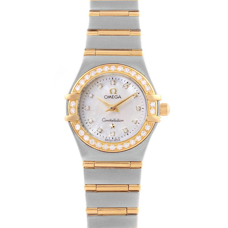 Omega Constellation Mini Mother of Pearl Diamond Watch 1267.75.00 SwissWatchExpo