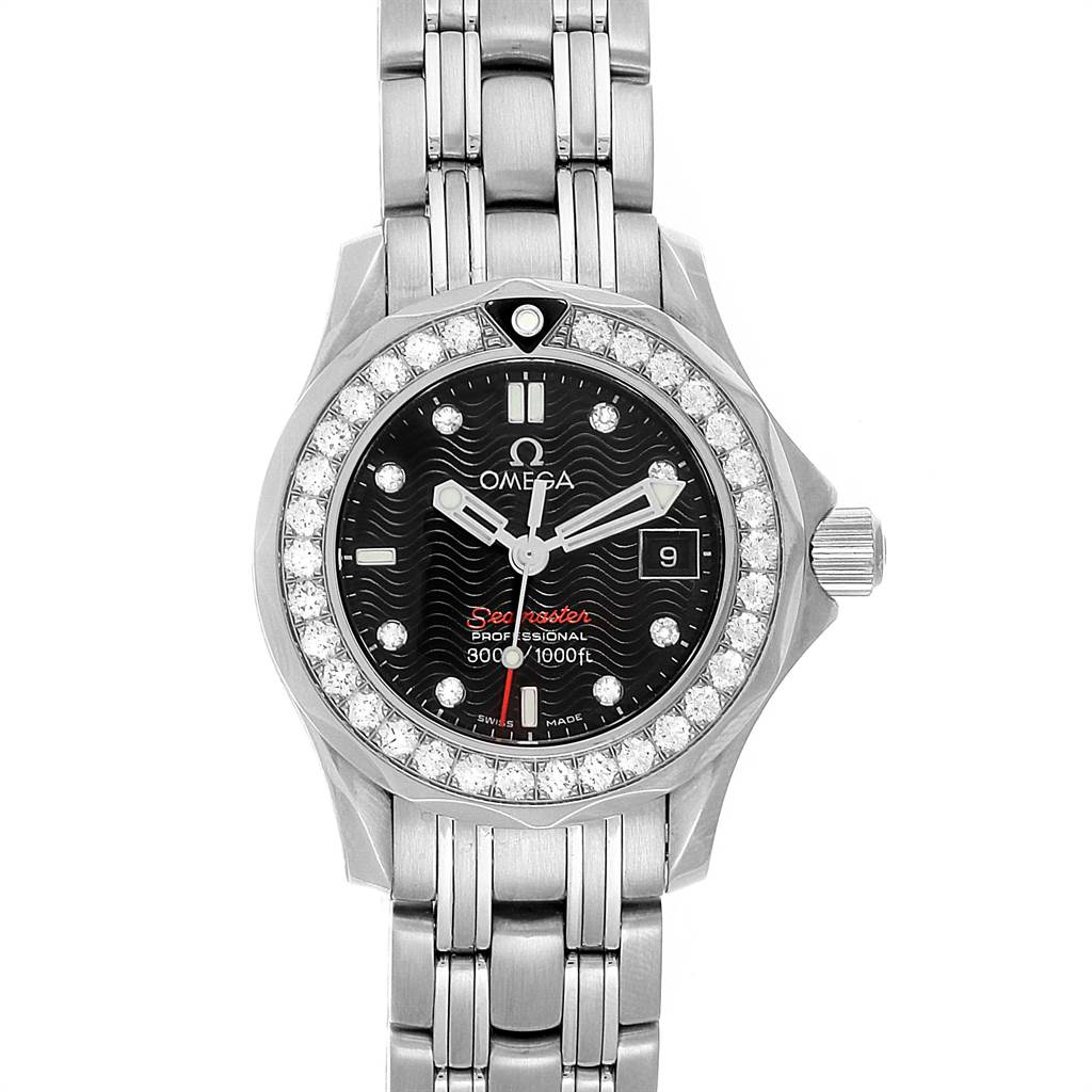 22036 Omega Seamaster 300m Diamond Ladies Watch 212.15.28.61.51.001 SwissWatchExpo
