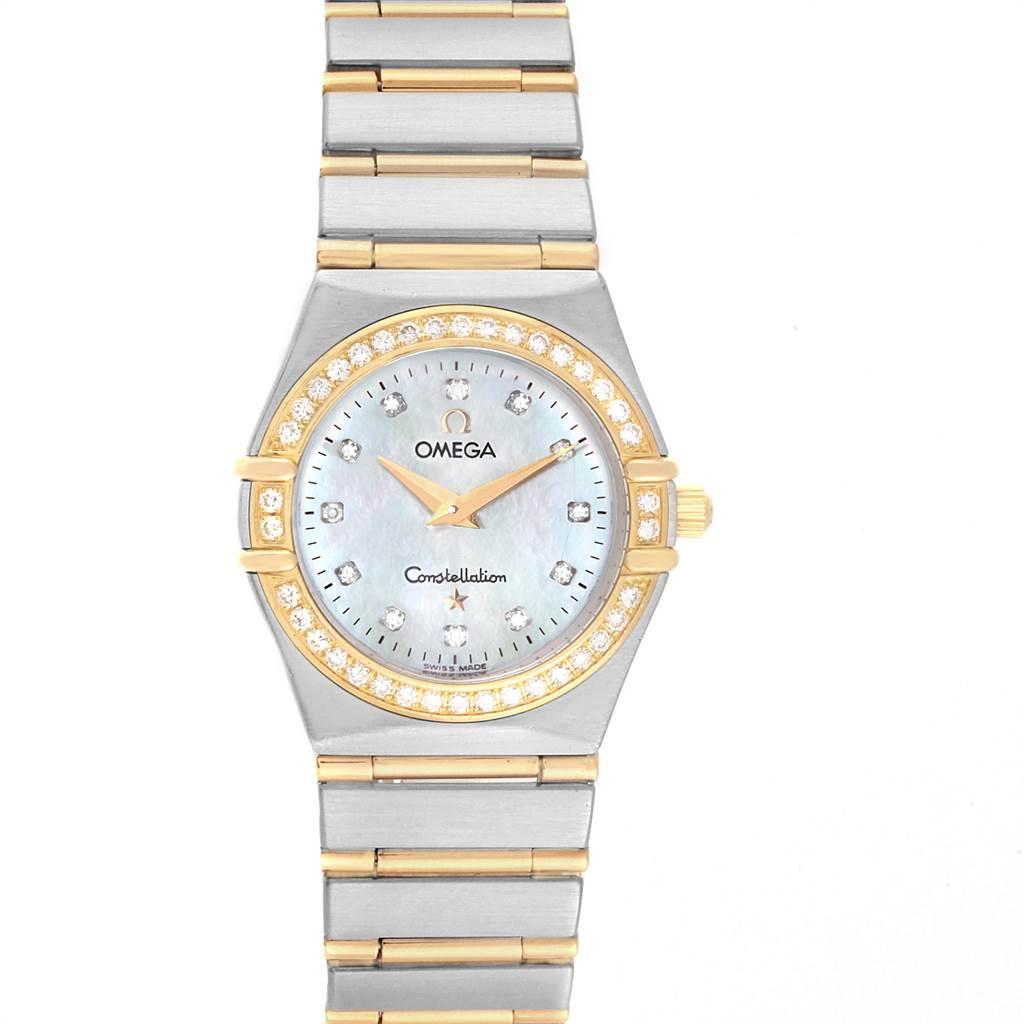 Photo of Omega Constellation 95 Steel Yellow Gold MOP Diamond Watch 1277.75.00