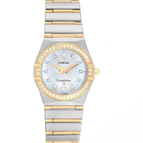 Photo of Omega Constellation 95 Steel Yellow Gold MOP Diamond Watch 1277.75.00