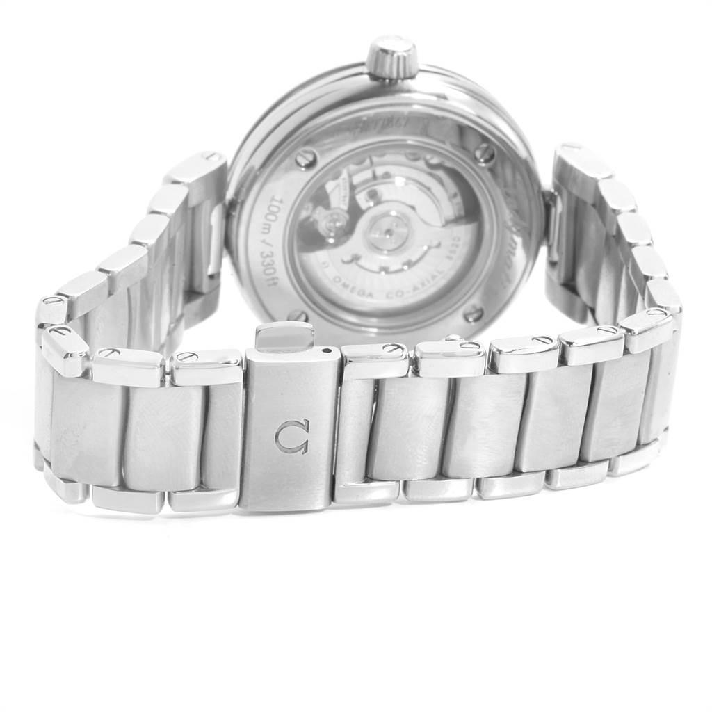 22856 Omega DeVille Ladymatic Blue MOP Diamond Ladies Watch 425.30.34.20.57.002 Box Card SwissWatchExpo