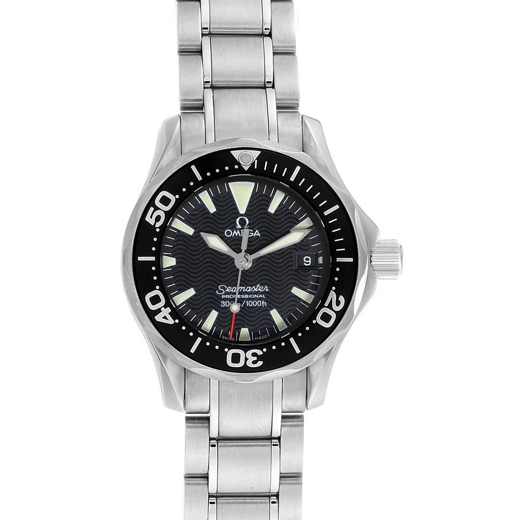 Omega Seamaster Diver 300M Quartz 28mm Steel Ladies Watch 2282.50.00 SwissWatchExpo
